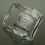 B 08 - Brooch: oxidized silver, tourmaline